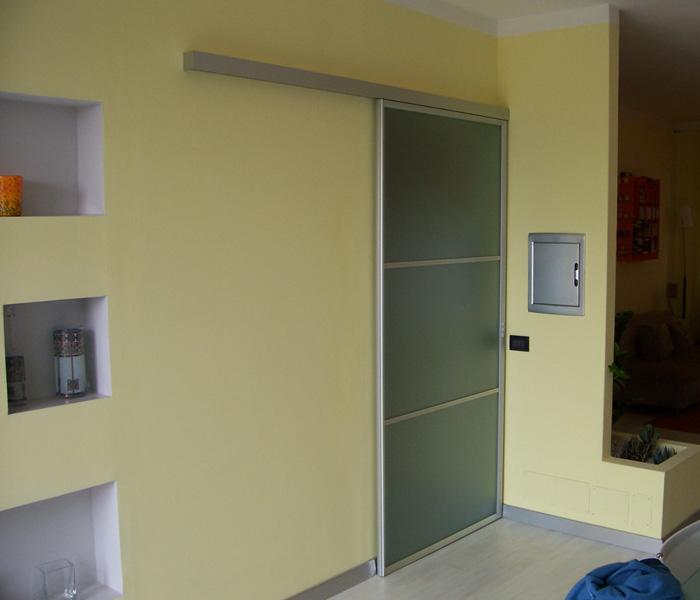 Porte d 39 arredo interno brunello loris dal 68 costruzione e installazione di serramenti a - Porte interne alluminio e vetro ...