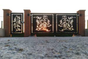 Cancello con taglio laser personalizzato