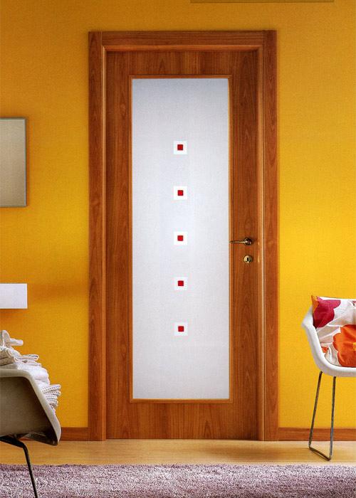 Porte da interno con vetro idea creativa della casa e - Porte in legno e vetro per interni ...